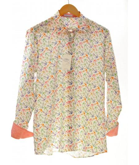 Camicia Ancora Colorata 100% lino