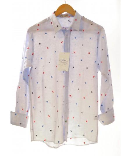 Camicia Ancoretta 100% lino