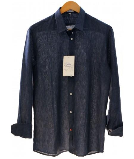 Camicia Blu Bora 100% lino