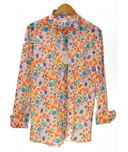 Camicia Marina 100% lino