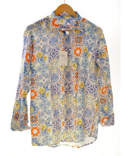 Camicia Mattonella 100% lino