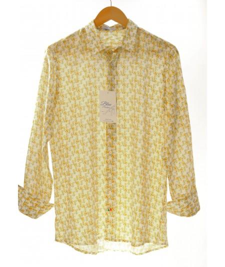 Camicia Micro Limoni 100% lino