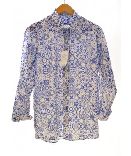 Camicia Petit Blu 100% lino