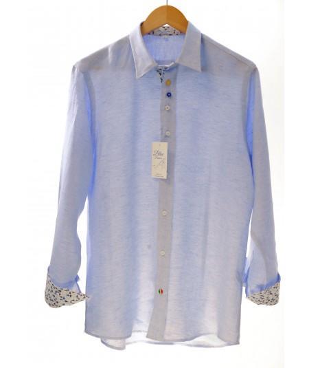 Camicia Positano Cielo 100% lino