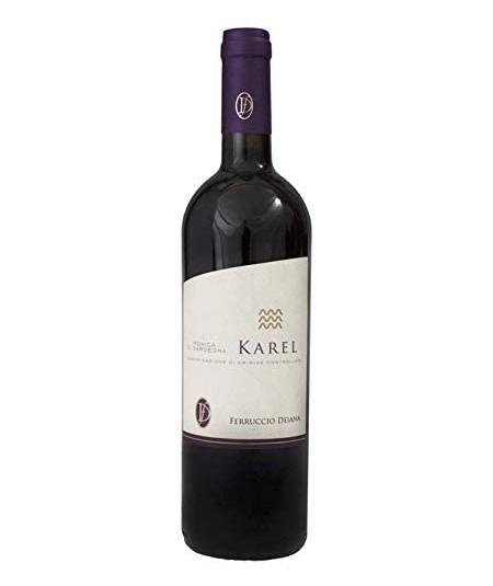 Bottiglia di vino Karel Monica di Sardegna DOC