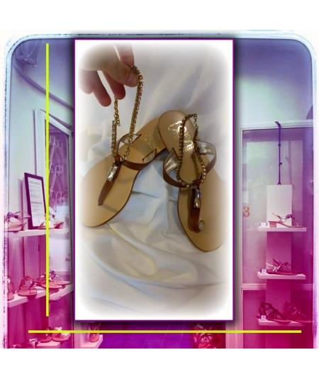 Sandalo TENNIS Colore Cuoio