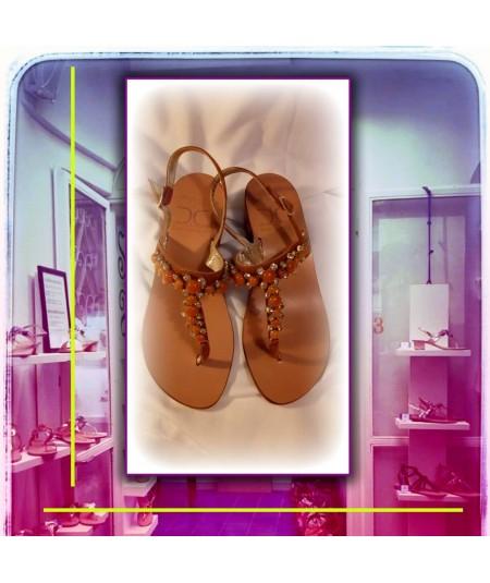 Sandalo T AMBRE Colore CUOIO